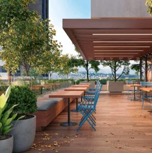 Terraza con Cafeteria