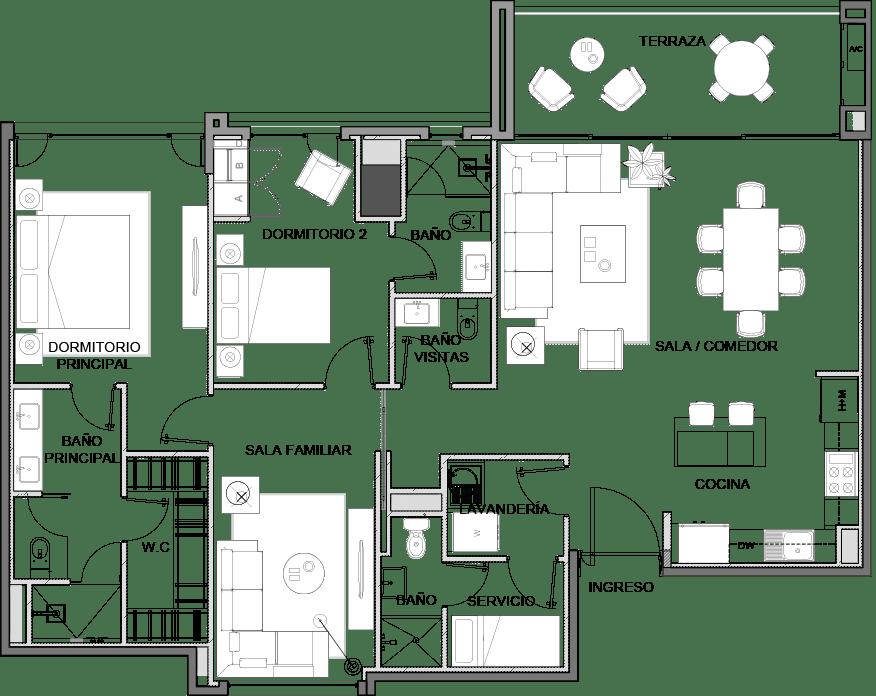 2-habitaciones-maranta